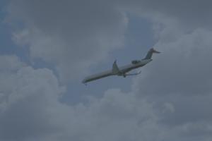 Commercial Plane Descending Atlantis Avionics
